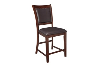 Eureka Upholstered 24 Inch Counter Stool Set Of 2
