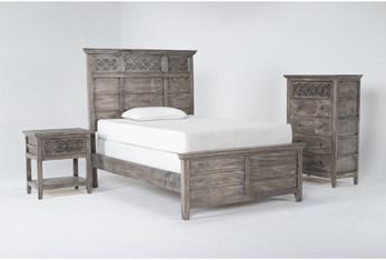Jilian Granite Full 3 Piece Bedroom Set
