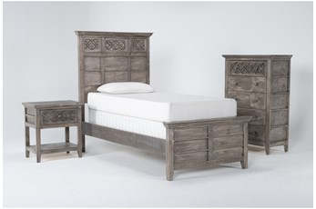 Jilian Granite Twin 3 Piece Bedroom Set