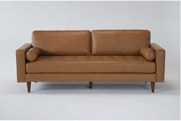 """Akira 88"""" Leather Sofa"""