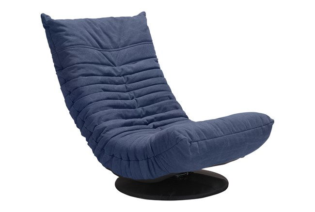 Blue Low Swivel Gaming Chair - 360