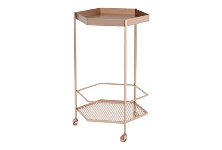Rose Gold Hexagon Bar Cart - Main