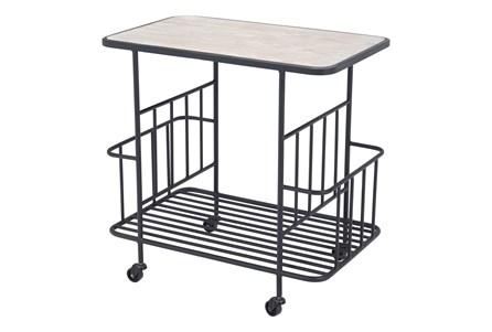 Wood & Black Frame Bar Cart - Main