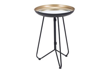 Gold & Black Accent Tray Table