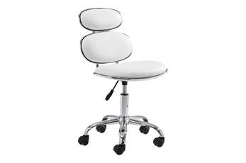 Modern Armless White Desk Chair