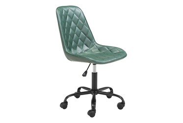 Green Diamond Quilted Desk Chair