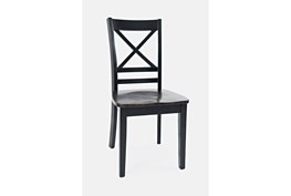 Kennedy Black Two Tone X Back Side Chair