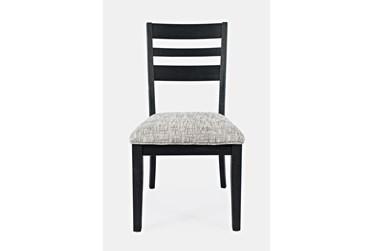 Zachar Charcoal Ladderback Side Chair