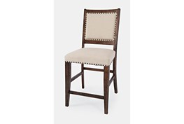 Claremont Oak Upholstered 24 Inch Counter Stool