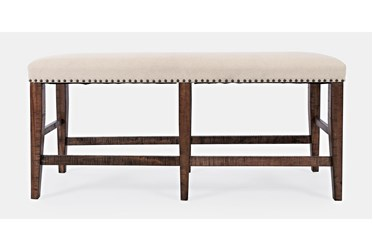 Claremont Oak Backless Counter Bench