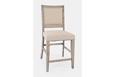 Claremont Ash Upholstered 24 Inch Counter Stool