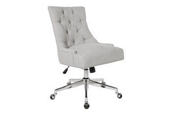 Amber Grey Tufted Desk Chair