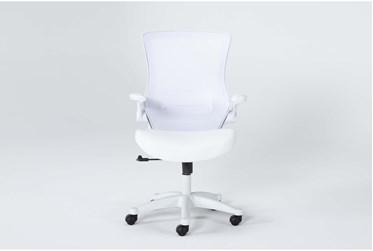 Elton White Mesh Desk Chair