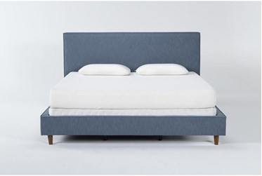 Dean Jean California King Upholstered Panel Bed