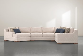 Everett 4 Piece Sectional With Left Arm Facing Cuddler