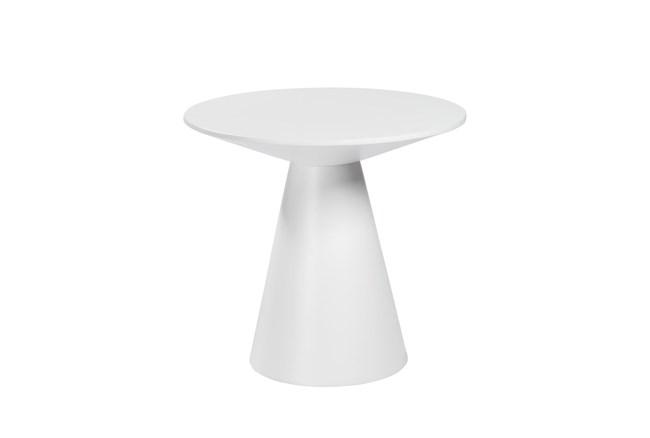 Revello Matte White End Table - 360