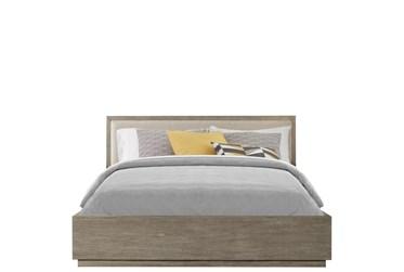 Zoya California King Panel Bed With Upholstered Headboard