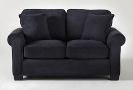 "Margot Denim 65"" Twin Sleeper Sofa With Memory Foam Mattress"