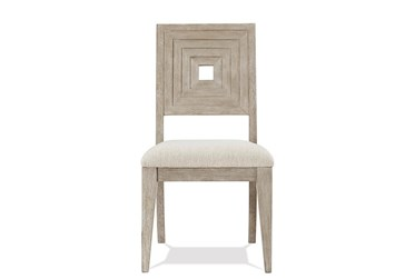 Cascade Upholstered Seat And Wood-Back Side Chair