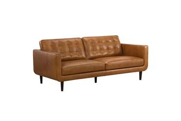 Modern Saddle Leather Sofa