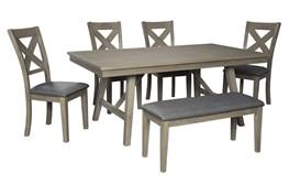 Aldwin 6 Piece Rectangle Dining Set