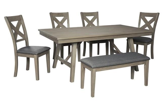 Aldwin 6 Piece Rectangle Dining Set - 360