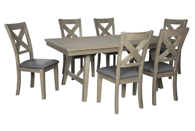 Aldwin 7 Piece Rectangle Dining Set - 360