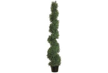 5' Artificial Spiral Cedar Plant