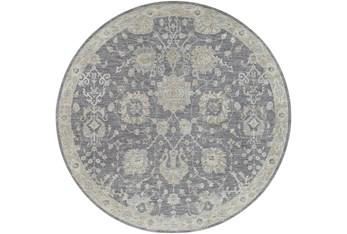 "7'10"" Round Rug-Avanti Floral Greys"
