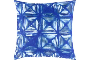 18X18 Bright Blue Geometric Diamond Throw Pillow