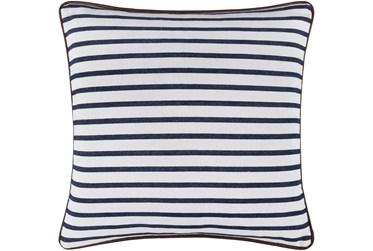 20X20 Blue and White Stripe Throw Pillow