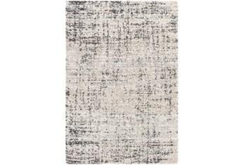 8' X 10' Rug-Abstract Plush Shag Greys