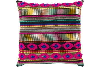 20X20 Pink and Orange Pattern Throw Pillow