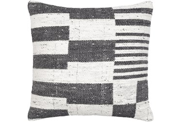 20X20 Charcoal Geo Pattern Throw Pillow