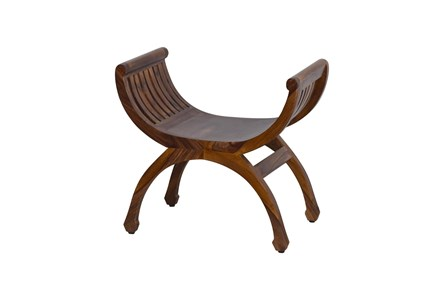 Curved Wood Bench - Main