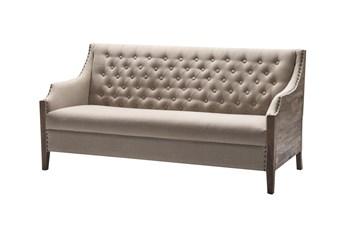 Wood Panel + Tufted Back Sofa