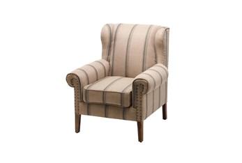Pinstripe Accent Arm Chair