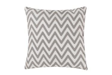 18X18 Chevron Grey/White Pillow