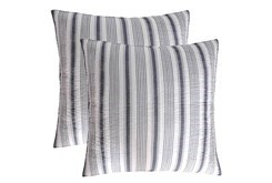 Euro Sham- Set of 2 Black Quilt back Stripe