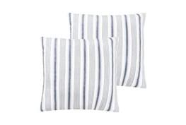 Euro Sham- Set of 2 Navy Quilt back Stripe