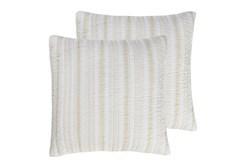 Euro Sham- Set of 2 Taupe Quilt back Stripe - 360