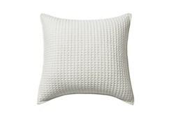20X20 Waffle White Square Pillow