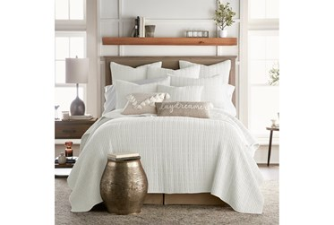 Twin Quilt-3 Piece Set Waffle White