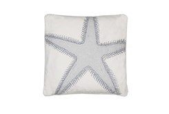 20X20 Embroidered Star Fish Pillow