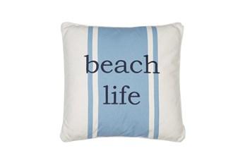 20X20 Decorative Beach Life Pillow