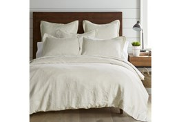 Twin Washed Linen Duvet Cover in Natural