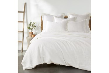 King Washed Linen Duvet Cover in Cream