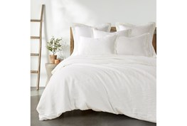 Twin Washed Linen Duvet Cover in Cream