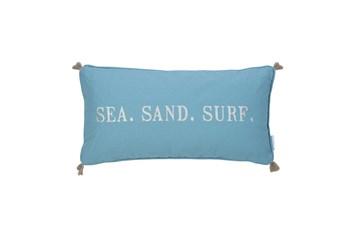 24X12 Sea Sand Surf Tassel Pillow