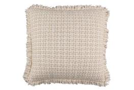 18X18 Textured Fringe Pillow